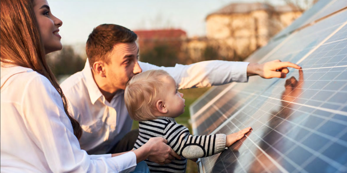 Family Viewing Solar Panels