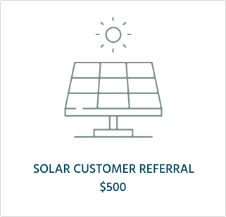 Solar Referral Program Symbol $500