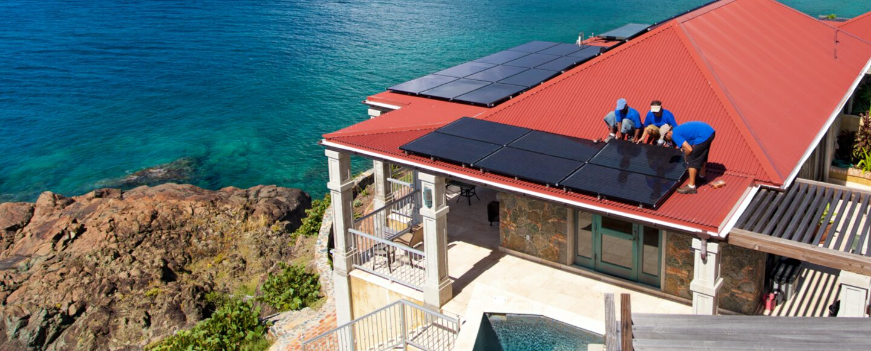 Solar Maintenance Team Rooftop